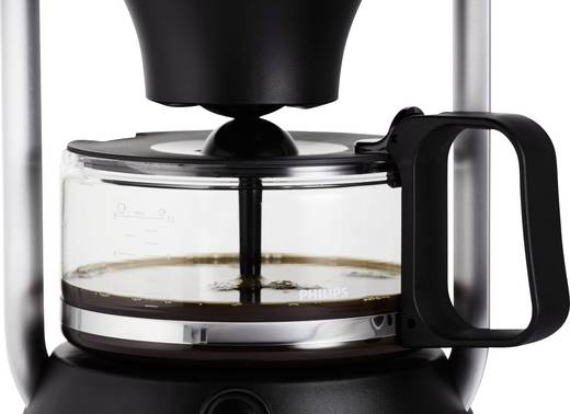 kaffeemaschine philips schwarz fassungsverm gen tassen 12. Black Bedroom Furniture Sets. Home Design Ideas