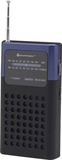 FM kapesní rádio SoundMaster TR10DBL, FM, modrá
