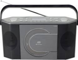 DAB+ a FM přenosné rádio s CD/MP3 přehrávačem SoundMaster RCD1770AN, USB, šedá