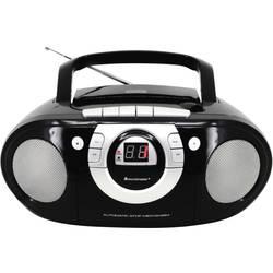 FM rádio s CD prehrávačom SoundMaster SCD5100SW, AUX, CD, kazeta, UKW, čierna