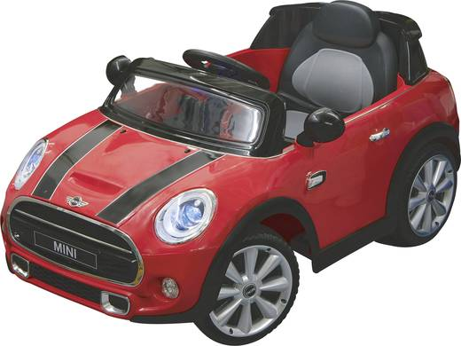 elektroauto jamara 12 v ride on car mini cooper rot. Black Bedroom Furniture Sets. Home Design Ideas