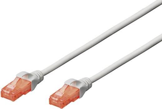 RJ45 Netzwerk Anschlusskabel CAT 6 U/UTP 15 m Grau mit Rastnasenschutz Digitus Professional