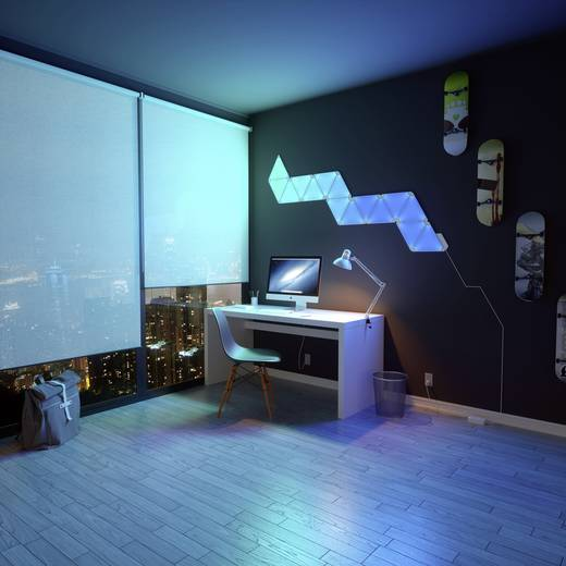 Aurora LED-Lichtpanels Starter-Kit Aurora LED fest eingebaut 18 W RGBW