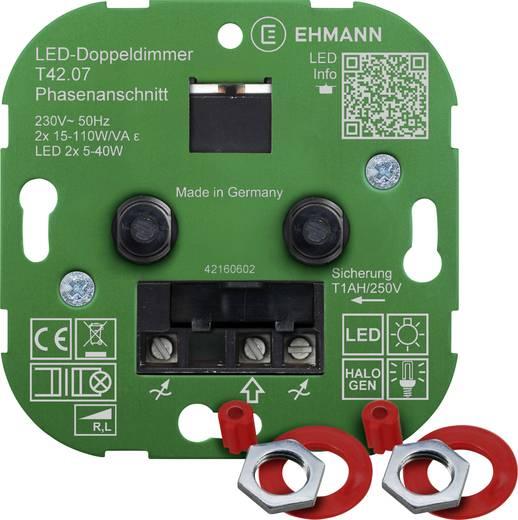 ehmann 4260c0701 unterputz dimmer geeignet f r leuchtmittel led lampe gl hlampe halogenlampe. Black Bedroom Furniture Sets. Home Design Ideas