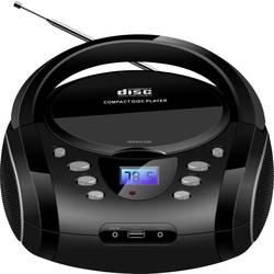 FM rádio s CD prehrávačom Silva Schneider PCD 16.1, CD, UKW, AUX, čierna