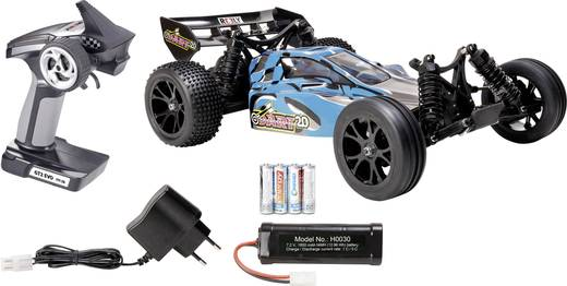 Reely Dart 2.0 Brushed 1:10 RC Modellauto Elektro Buggy Heckantrieb 100% Premium RtR 2,4 GHz inkl. Akku, Ladegerät und S