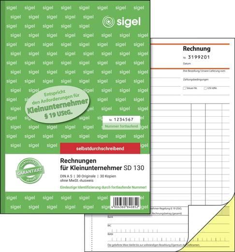 Sigel Rechnung Formular Sd130 Din A5 Hoch Anzahl Der Blätter 60 Kaufen