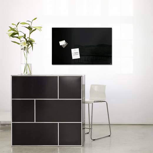 sigel glas magnetboard artverum b x h 78 cm x 48 cm schwarz gl130 kaufen. Black Bedroom Furniture Sets. Home Design Ideas