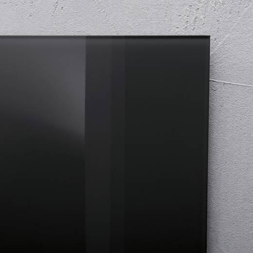 sigel glas magnetboard artverum b x h 100 cm x 65 cm schwarz gl140. Black Bedroom Furniture Sets. Home Design Ideas