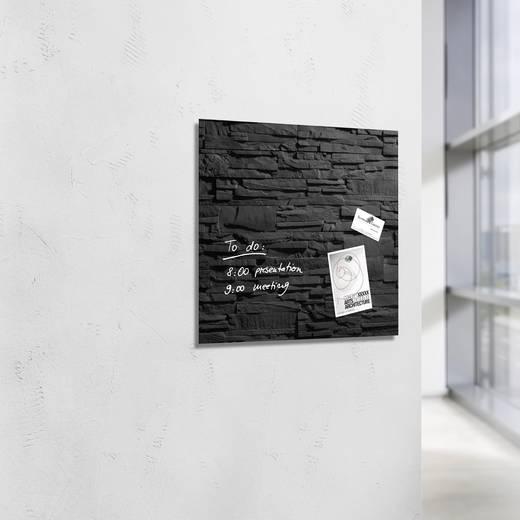 sigel glas magnetboard artverum schiefer stone b x h 48 cm x 48 cm schiefer gl169. Black Bedroom Furniture Sets. Home Design Ideas