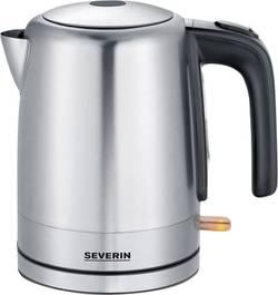 Rychlovarná konvice Severin WK 3496 3496-000, 2200 W, 1.0 l, nerezová ocel kartáčovaná, černá