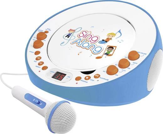 Dual CP 18 Kinder CD-Player AUX, CD Inkl. Karaoke-Funktion, Inkl. Mikrofon Blau