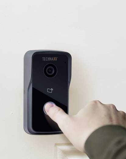 ip video t rsprechanlage wlan lan komplett set technaxx 4649 1 familienhaus schwarz. Black Bedroom Furniture Sets. Home Design Ideas