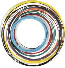 Sada vláken pro 3D tiskárny Velleman PLA175SET6, PLA plast, 1.75 mm, černá, bílá, červená, stříbrná, žlutá, světle modrá