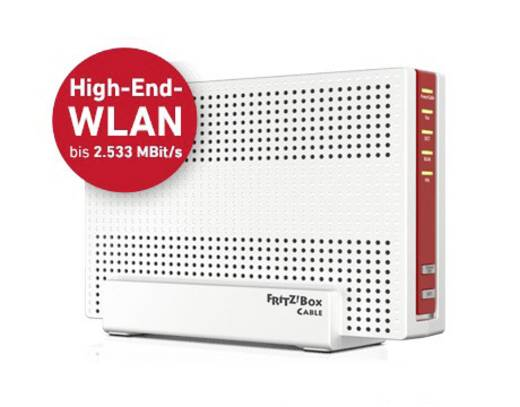 AVM FRITZ!Box 6590 Cable WLAN Router mit Modem Integriertes Modem: Kabel 2.4 GHz, 5 GHz 2.5 Gbit/s