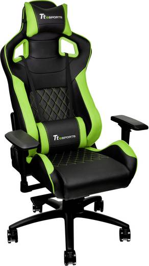 gaming stuhl tt esports schwarz gr n kaufen. Black Bedroom Furniture Sets. Home Design Ideas