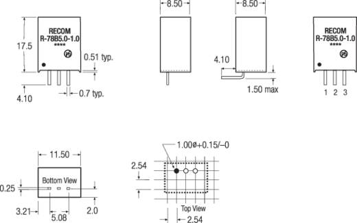 RECOM R-78B12-1.0 DC/DC-Wandler, Print 12 V/DC 1 A 12 W Anzahl Ausgänge: 1 x