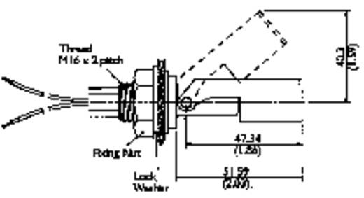 TE Connectivity Sensor LS303-51 Schwimmerschalter 250 V/AC, 100 V/DC 1 A 1 Schließer, 1 Öffner IP65 1 St.