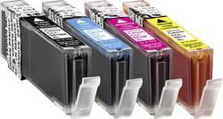 Ink sada náplní do tiskárny Basetech BTC90 1520,0050-126, kompatibilní, foto černá, azurová, purppurová, žlutá
