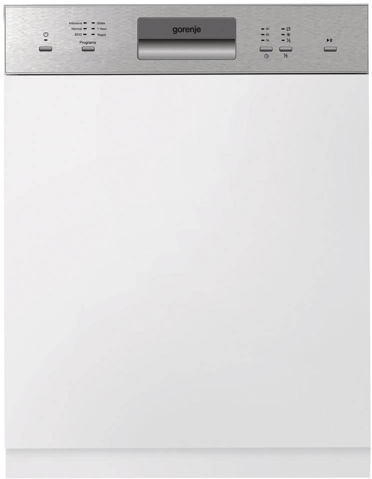 GORENJE GI61010X Einbau Geschirrspüler EEK: A++ Teilintegrierbar Edelstahl