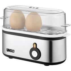Varič vajec Unold Mini, nerezová oceľ, čierna