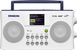 Internetové, DAB+, FM přenosné rádio Sangean SIR-300, Wi-Fi, bílá