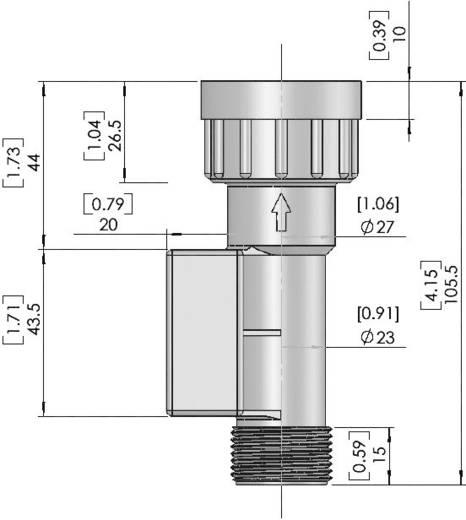 Durchfluss-Sensor 1 St. FS-02 TE Connectivity Sensor (L x B x H) 101.5 x 37 x 40 mm