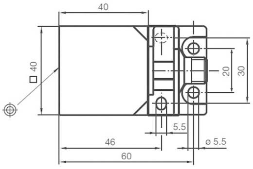 Induktiver Näherungsschalter 40 x 40 mm nicht bündig PNP Pepperl & Fuchs NBN40-L2-A2-V1