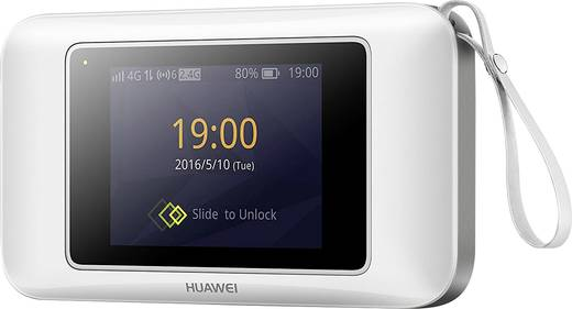 Huawei E5787w-33a Mobiler 4G-WLAN-Hotspot bis 10 Geräte 50 MBit/s mit microSD-Kartenslot, Powerbank-Funktion Weiß