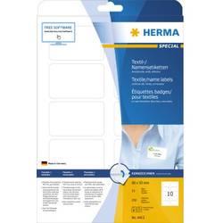 Image of Herma 4412 Etiketten 80 x 50 mm Acetatseide Weiß 250 St. Wiederablösbar Namens-Etiketten, Textil-Etiketten,
