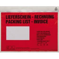 Image of Dokumententasche DIN C6 Rot Lieferschein-Rechnung, mehrsprachig mit Selbstklebung 250 St./Pack. 1 Pckg.