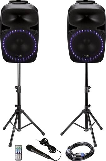 aktives pa lautsprecher set ibiza sound pkg12a bluetooth inkl mikrofon eingebauter lichteffekt. Black Bedroom Furniture Sets. Home Design Ideas