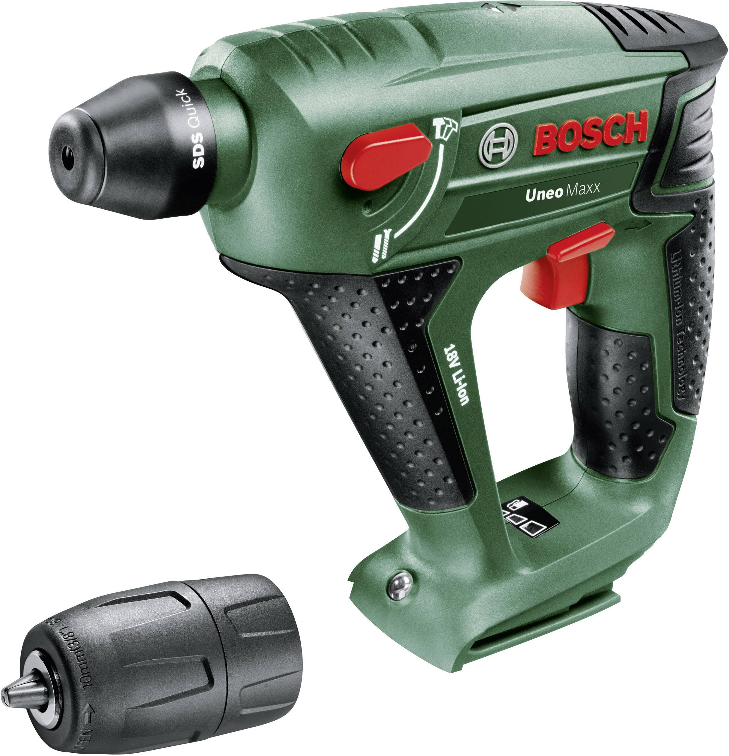 Bosch Home and Garden Uneo Maxx SDS Quick Akku Bohrhammer 18 V Li Ion ohne Akku
