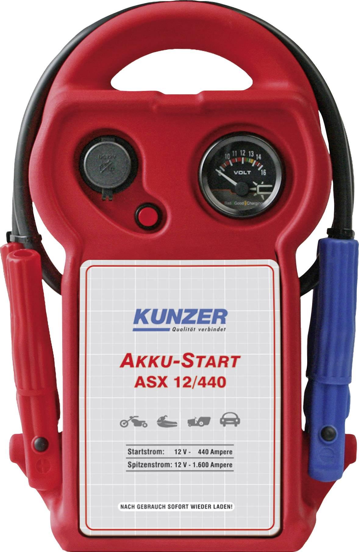 Kunzer Schnellstartsystem AKKU Start ASX 12440 Starthilfestrom (12 V)=440 A