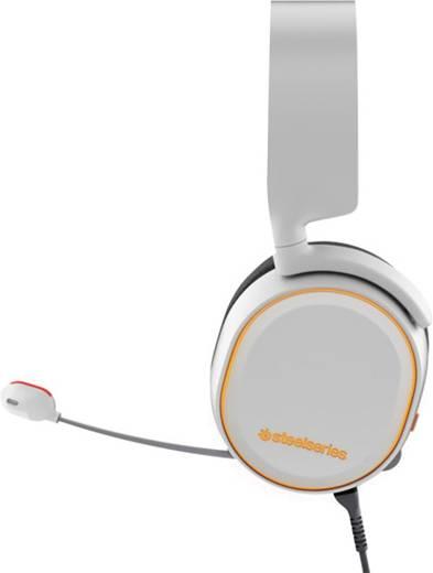 Gaming Headset USB, 3.5 mm Klinke schnurgebunden Steelseries Artic 5 Over Ear Weiß