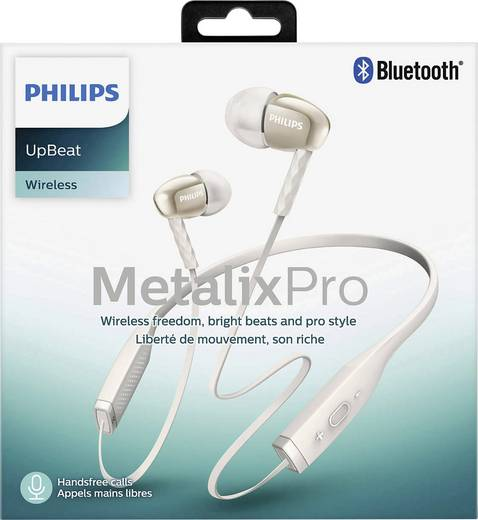 bluetooth kopfh rer philips shb5950wt in ear nackenb gel. Black Bedroom Furniture Sets. Home Design Ideas