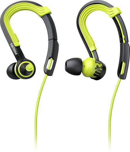 Sport Kopfhörer Philips SHQ3400CL In Ear Noise Cancelling, Ohrbügel, Schweißresistent, Wasserbeständig Grün