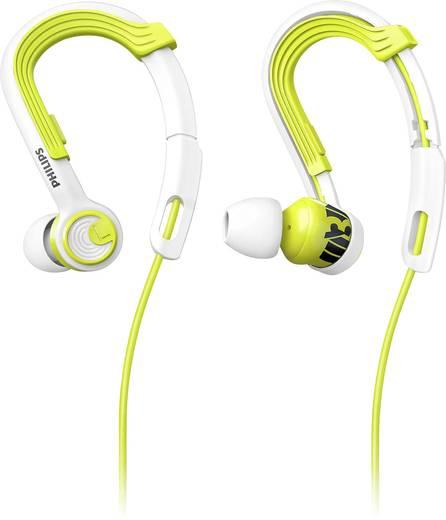 Philips SHQ3400LF Sport Kopfhörer In Ear Noise Cancelling, Ohrbügel, Schweißresistent, Wasserbeständig Gelb