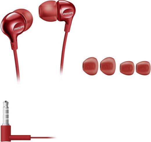 Philips SHE3700RD Kopfhörer In Ear Rot