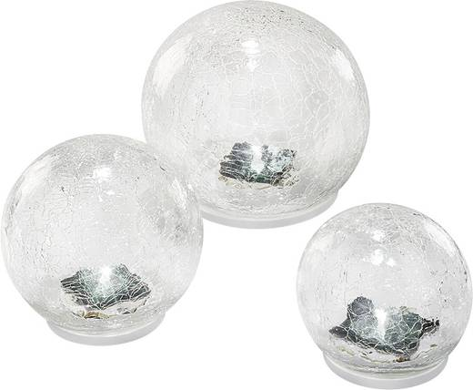 solar gartenleuchte kugel 3er set led tageslicht wei esotec crackle balls 102082 transparent. Black Bedroom Furniture Sets. Home Design Ideas