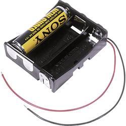 Batériový držák na 3x mignon (AA) MPD BA3AAW, kábel, (d x š x v) 58 x 48 x 16 mm