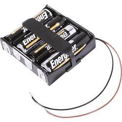 Batériový držák na 4x mignon (AA) MPD BA4AAW, kábel, (d x š x v) 63 x 55 x 16 mm