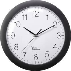 DCF nástěnné hodiny Basetech 300 mm, černá