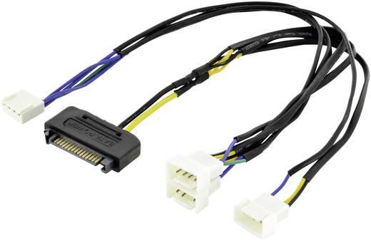 Computer, PC-Lüfter, Strom Y-Kabel [3x Molex 4pol Stecker - 1x SATA ...