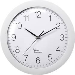 DCF nástenné hodiny Basetech 1556547, vonkajší Ø 300 mm, biela