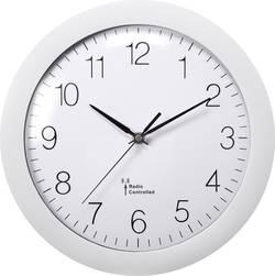 DCF nástěnné hodiny Basetech Vnější Ø 300 mm, bílá