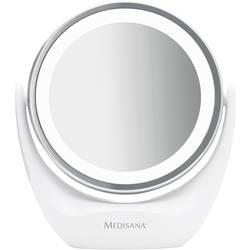Kosmetické zrcadlo s LED podsvícením Medisana CM 835 - Medisana CM 835/Oboustranné kosmetické zrcátko s osvětlením 2v1 průměr 12cm - Medisana CM 835/Oboustranné kosmetické zrcátko s osvětlením 2v1 průměr 12cm