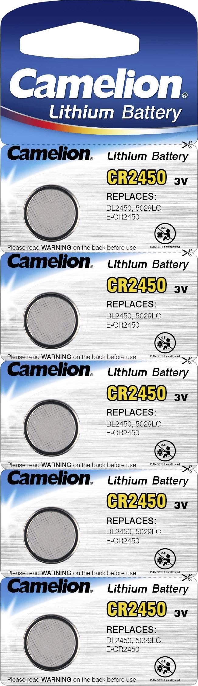 Camelion CR2450 Knopfzelle CR 2450 Lithium 550 mAh 3 V 5 St.