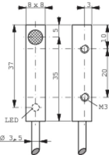 Induktiver Näherungsschalter 8 x 8 mm bündig PNP Contrinex DW-AD-603-C8