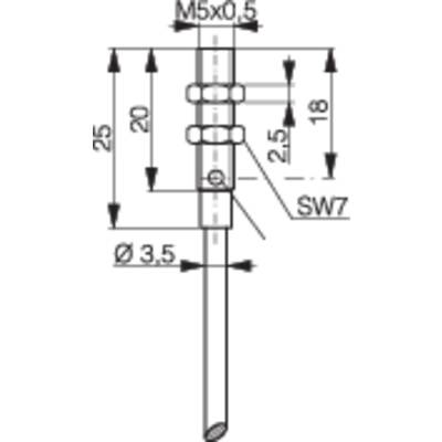 Inductive proximity sensor M5 shielded PNP Contrinex from